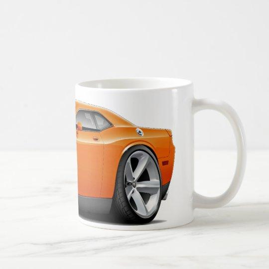 Challenger SRT8 Orange-Black Car Coffee Mug