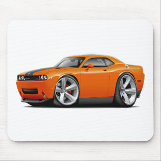 Challenger SRT8 Orange-Black Car Mouse Pad