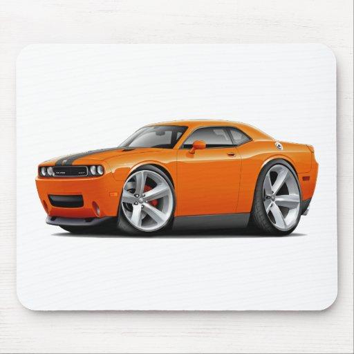 Challenger SRT8 Orange-Black Car Mouse Pad
