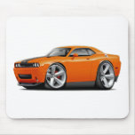 Challenger SRT8 Orange-Black Car Mousepad