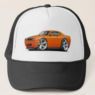 Challenger SRT8 Orange-Black Car Trucker Hat