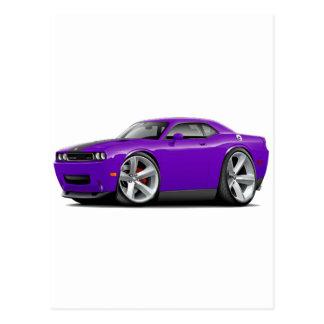 Challenger SRT8 Purple-Black Car Postcard