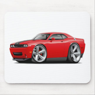 Challenger SRT8 Red-Black Car Mouse Pad