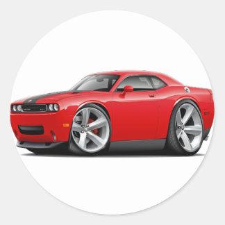 Challenger SRT8 Red-Black Car Stickers