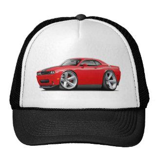Challenger SRT8 Red-Black Car Trucker Hat
