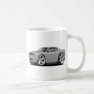 Challenger SRT8 Silver-Black Car Classic White Coffee Mug