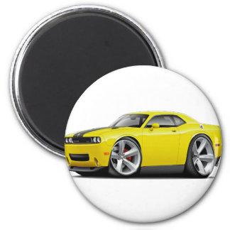 Challenger SRT8 Yellow-Black Car Magnet
