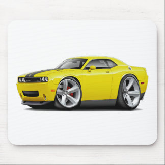 Challenger SRT8 Yellow-Black Car Mouse Pad