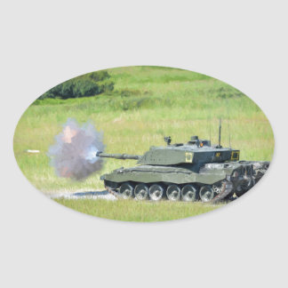 Challenger Tank Oval Sticker