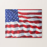 Challenging American Stars And Stripes Jigsaw Puzzle