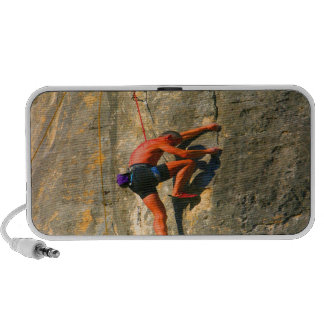 challenging and succerss Rock climber iPhone Speakers