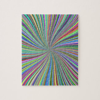 Challenging Colorful Swirling Spiral of Ribbons Puzzle