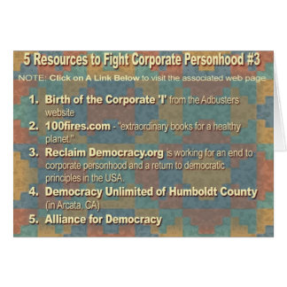 Challenging Corporate Personhood Resources #3 Card
