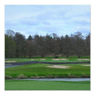 Challenging Golf Course Custom Invitation