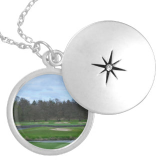 Challenging Golf Course Personalized Necklace