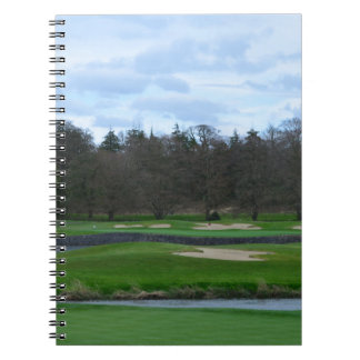 Challenging Golf Course Spiral Notebooks