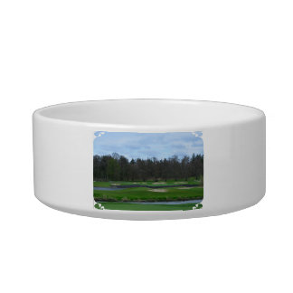 Challenging Golf Course Pet Food Bowls