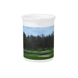 Challenging Golf Course Beverage Pitcher
