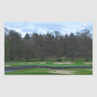 Challenging Golf Course Rectangular Sticker