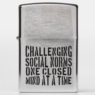 Challenging Social Norms - Zippo Lighter! Zippo Lighter