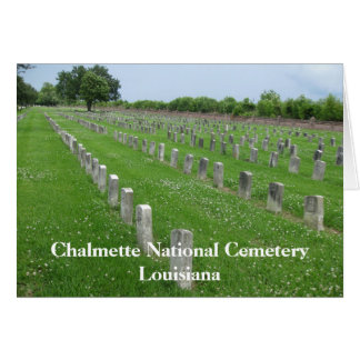 Chalmette National Military Cemetery Greeting Card