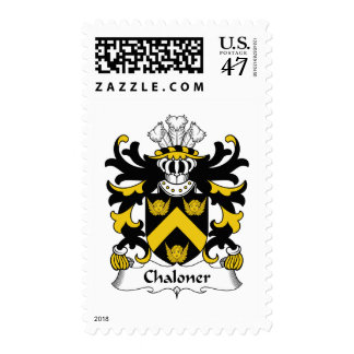 Chaloner Family Crest Postage