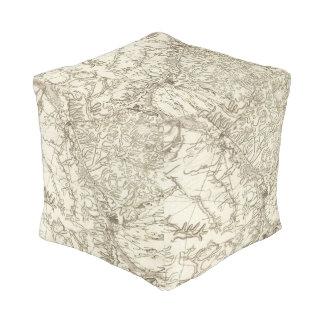 Chalonsen Champagne Cube Pouf