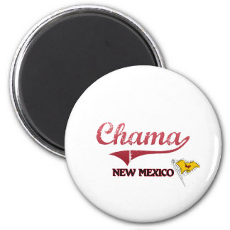 Chama New Mexico City Classic 2 Inch Round Magnet