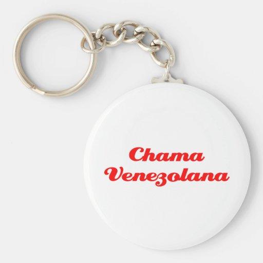 Chama Venezolana Llavero Redondo Tipo Pin