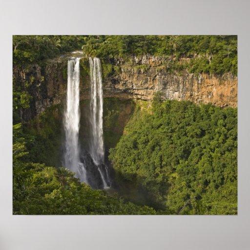 Chamarel Cascada-más alto en Mauricio, encima Poster