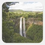 Chamarel Cascada-más alto en Mauricio, sobre 2 Calcomanías Cuadradas