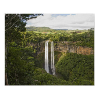 Chamarel Waterfall-highest on Mauritius, over 2 Poster