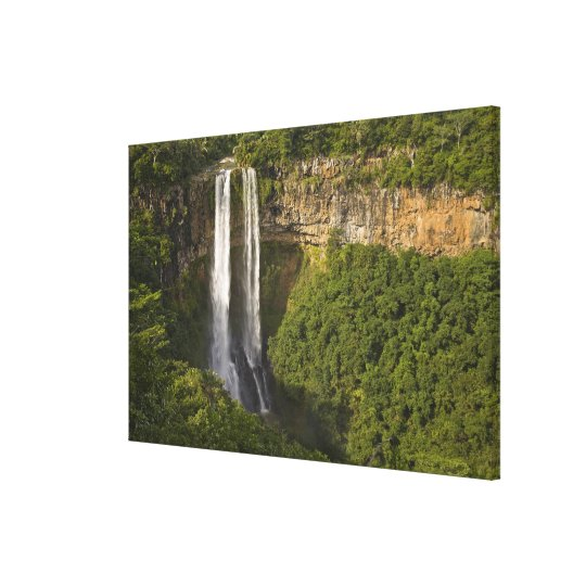 Chamarel Waterfall-highest on Mauritius, over Canvas Print