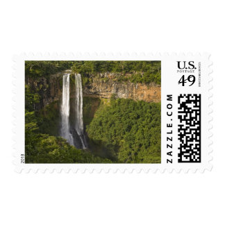 Chamarel Waterfall-highest on Mauritius, over Postage Stamp