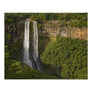 Chamarel Waterfall-highest on Mauritius, over Poster