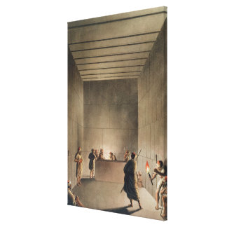 Chamber and Sarcophagus in the Great Pyramid of Gi Canvas Print