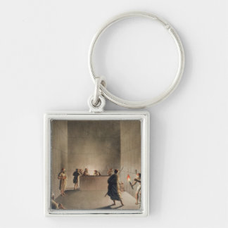 Chamber and Sarcophagus in the Great Pyramid of Gi Keychain