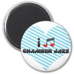 Chamber Jazz fan Magnets
