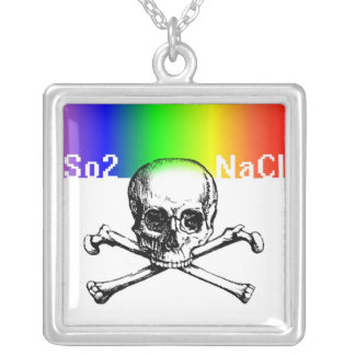 Chamber of reflection square pendant necklace