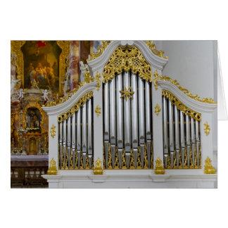 Chamber organ in Wieskirche, Bavaria Card
