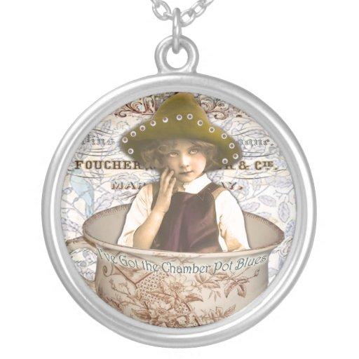 Chamber Pot Blues Custom Necklace