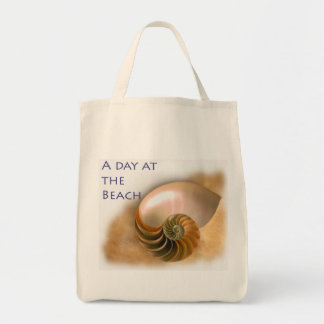 Chambered Nautilus Grocery Tote Bag