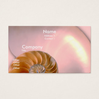 Chambered Nautilus Business Card