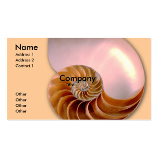 Chambered Nautilus Business Card