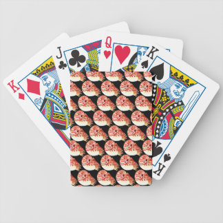 Chambered Nautilus Pattern in black Bicycle Playing Cards