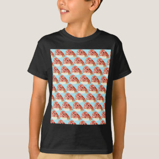 Chambered nautilus Pattern in blue T-Shirt