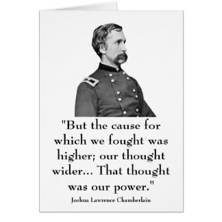 Chamberlain and quote greeting card
