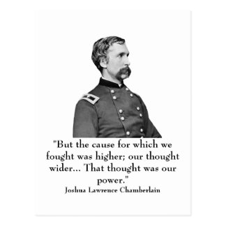 Chamberlain and quote postcard