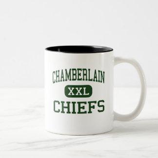 Chamberlain - Chiefs - High School - Tampa Florida Two-Tone Coffee Mug