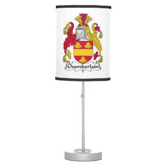 Chamberlain Family Crest Table Lamp